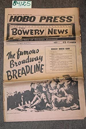 Hobo Press the Bowery News No. 66: Haronian, Harry, Charlie