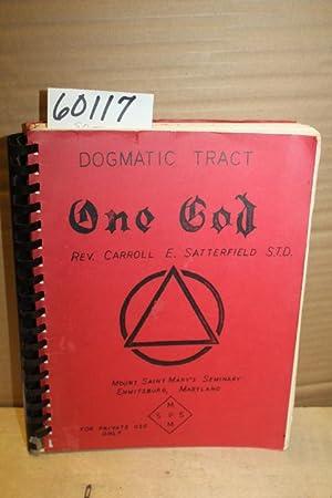 One God: Satterfield, Rev. Carroll E.