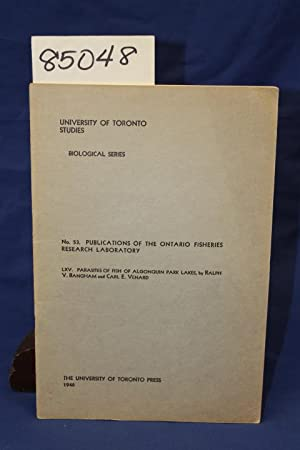 NO. 53 PUBLICATIONS OF THE ONTARIO FISHERIES RESEARCH LABORATORY: Bangham, V. and Venard, Carl. E.