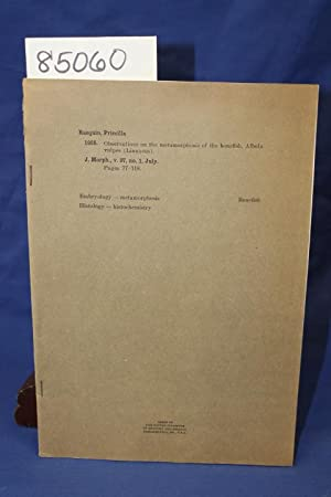 OBSERVATIONS ON THE METAMORPHOSIS OF THE BONEFISH ALBULA VULPES (LINNAEUS): rasquin, priscilla