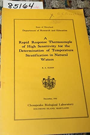 A RAPID RESPONSE TERMOCOUPLE OF HIGH SENSITIVITY FOR THE DETERMINATION OF TEMPERATURE ...