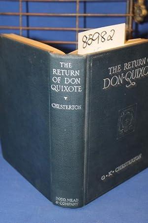 The Return of Don Quixote: Chesterton, Gilbert K.