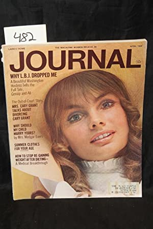 Ladies Home Journal April 1968 Front Cover by Jean Shrimpton: Ladies Home Journal