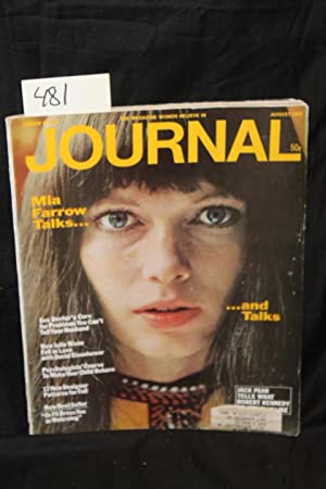 Ladies Home Journal August 1968 Front Cover by Mia Farrow: Ladies Home Journal