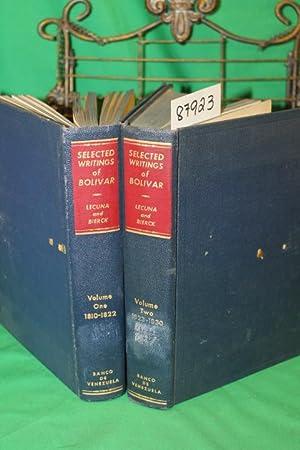 Selected Writings of Bolivar Volume 1-2: Lecuna, Vicente & Bierck, Harold A. & Bertrand, Lewis and ...