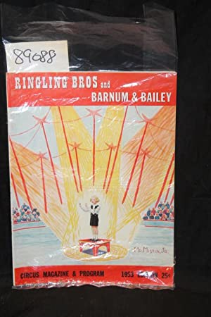 1953 Ringling Bros. and Barnum & Bailey Circus Magazine & Program COVER MR MISTIN JR.: Dube...