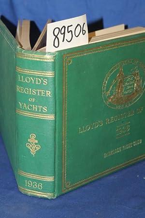 Lloyd's Register of Yachts: Llyod's Register