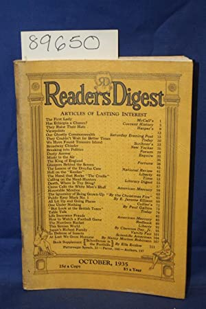 Reader's Digest, Public Essay Mark No. 1 by E. Jerome Ellison, One Under Nothing by Paul ...