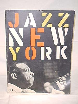 Jazz New York, or New York Jazz Festival Program Billie Holiday, Count Basie, Dave Brubeck, Gerry ...