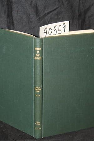 Manual of Case Analysis: Dhonau, Charles O.