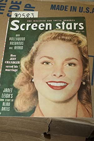 Screen Stars April 1952 Vol 10 No. 2 Janet Leight in color on front cover: Little, Bessie