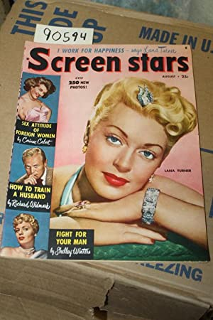 Screen Stars Aug. 1950 Vol 8 No. 4 Lana Turner in color on front cover: Little, Bessie