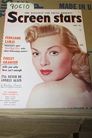 Screen Stars Magazine June 1952 Vol 10 No 3 Lana Turner on colored front cover: Little, Bessie