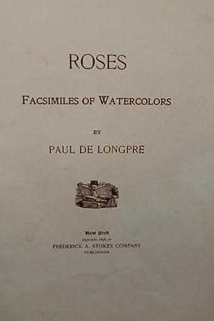 Roses Facsimiles of Watercolors: Longpre, Paul de