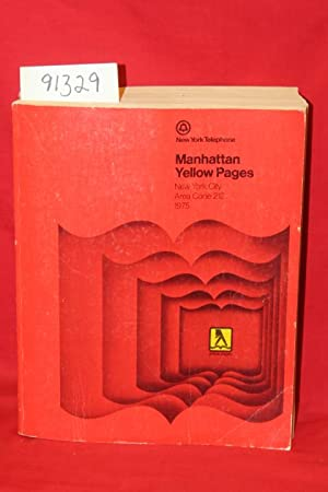 Manhattan Yellow Pages 1975 New york City Area Code 212: New York Telephone