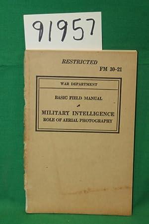 FM 30-21 Basic Field Manual Military Intelligence: War Department