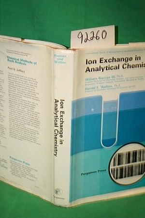 Ion Exchange in Analytical Chemistry: Rieman, William; Walton,