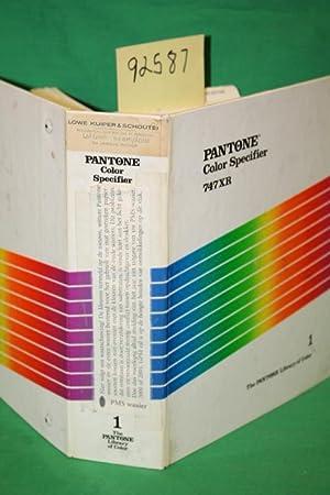 Pantone Color Specifier 747XR Volume 1: Pantone