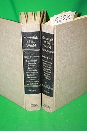 MAMMALS OF THE WORLD VOL 1 & 2: Walker, Ernest P.