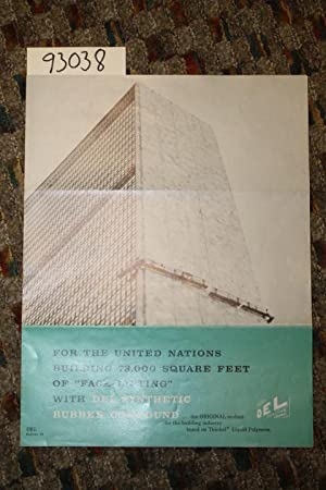 """For The United Nations Building 73,00 Square Feet of """"Face Lifting"""" with DEL Synthetic ..."""