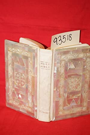 The Holy Bible: King James Edition mother of pearl inlaid also carved floral inlay: The Holy Bible:...