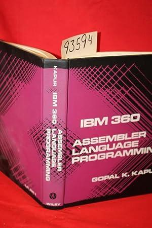 IBM 360 Assembler Language Progreamming: Kapur, Gopal K