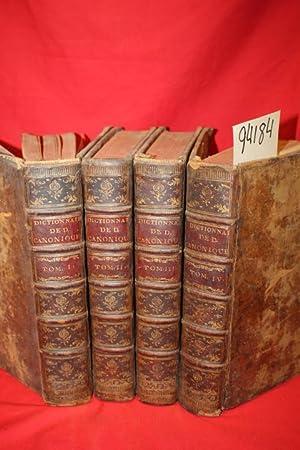Dictionnaire de Droit Canonique et de Pratique Beneficiale Confere (4 volumes): Dictionnaire de ...