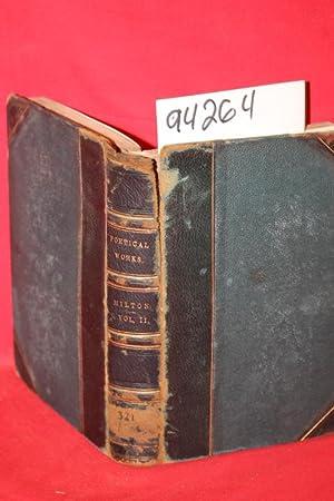 The Poetical Works of John Milton Voluime 2 of 6 volumes: Milton, John; Sir Egerton Brydges, Bart (...