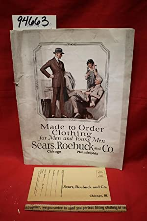Made to Order Clothing for Men and Young Men 32 wool samples: Sears Roebuck
