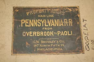 Atlas of Properties on the Main Line Pennsylvania from Overbrook to Paoli: Bromley, George W. & ...