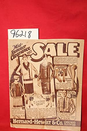 Mid-summer Clearance Sale 1927: Bernard-Hewitt & Co.