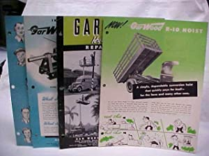 Gar Wood Ad, Mechanical Brochures (4 total): Gar Wood