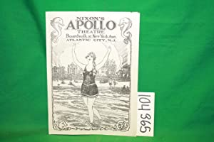 Nixon's Apollo Theatre Advertisement Booklet 1926: Nixon's Apollo Theatre