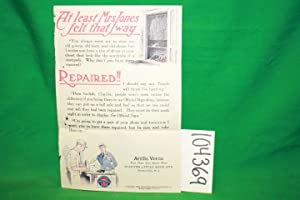 Trifold First Class Shoe Repair Shop Advertisement: United States Repairing