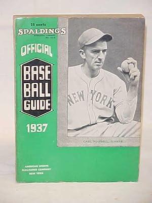 Official Baseball Guide 1937: Spalding's