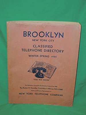 Brooklyn New York City: 1935 Classified Telephone Directory: Winter-Spring: Brooklyn New York City