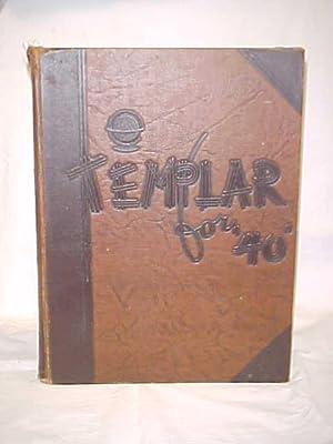 Templar for 1940, Temple University: Temple University