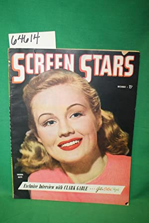 Screen Stars December 1945 Vol 4 No 3 Magazine Virginia Mayo on colored front cover: Little Bessie ...