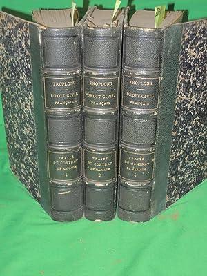 Du Contrat De Mariage Et Des Droits Respectifs Des Epoux Vols. 1, 2 & 4: Troplong, M.