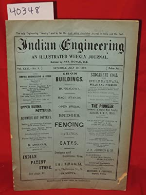 July 29, 1899 Indian Engineering, An Illustrated Weekly Journal Vol. 26, No. 5: Doyle, Pat, C.E.