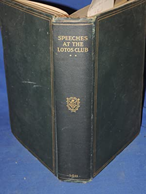 After Dinner Speeches at the Lotos Club: Lawrence, Frank (Pres