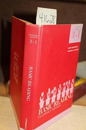 Basic Reading: Teacher's Edition 3 - 1: McCracken, Glenn And Charles Walcutt