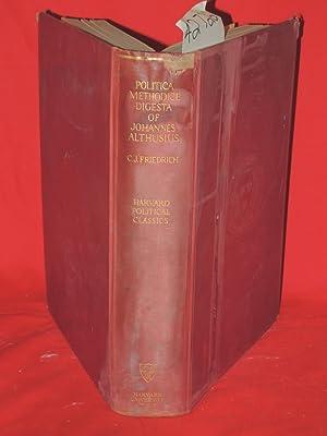 Politica Methodice Digesta of Johannes Althusius: Friedrich, Carl Joachim