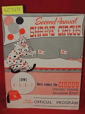 Shrine Circus (2nd Annual) Official Program: Shrine Circus