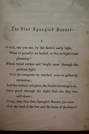 "Poems of the Late Francis S. Key, Esq (Contains Star Spangled Banner ""Defence of Fort McHenry&..."