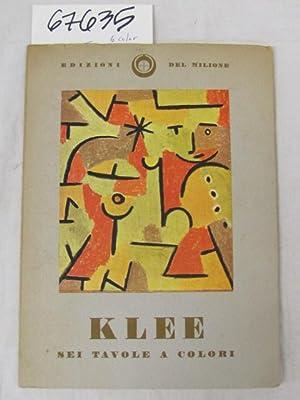 KLEE 6 color Prints - SEI TAVOLE A Colori: Edizioni Del Melione