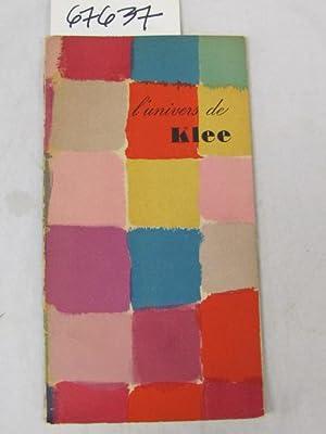 Lunivers de KLEE une lettre de Klee a Paul Eluard: Dans La Meme Collection