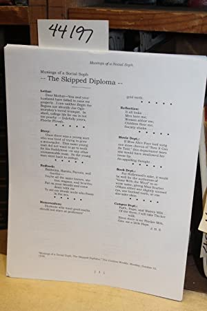 The Skipped Diploma (1938): Salinger, J. D.