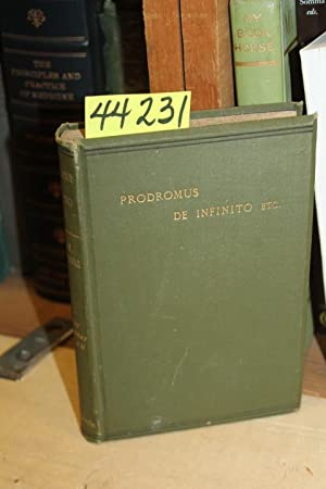 Prodromus De Infinito, Etc.: Swedenborgii, Emanuel Swedenborg