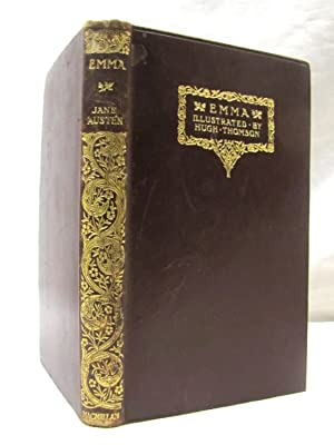 Emma 1932 Maroon Leather Gift Quality Illustrated by Thomson: Austen, Jane